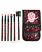 Sugar Skull Seven Piece Brush Set