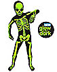 Kids Glow In The Dark Skeleton Morphsuit Costume