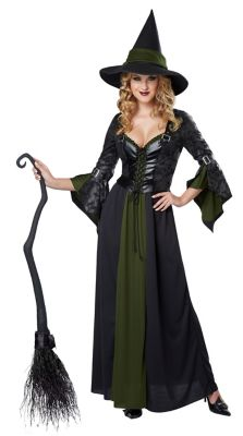 Easy DIY Edwardian Titanic Costumes 1910-1915 Adult Classic Witch Costume by Spirit Halloween $59.99 AT vintagedancer.com