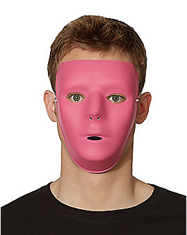 Blank Face Pink Half Mask