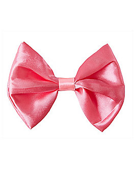 Pink Satin Bowtie