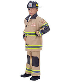 Kids Tan Firefighter Costume
