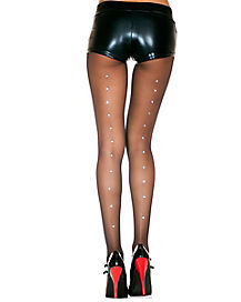 Rhinestone Backseam Tights
