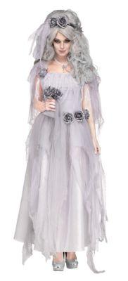 Steampunk Dresses | Women & Girl Costumes Adult Ghostly Bride Costume by Spirit Halloween $59.99 AT vintagedancer.com