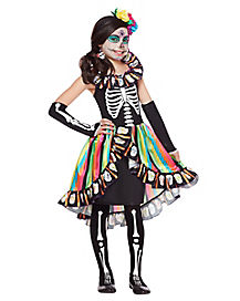 kids rainbow sugar skull costume - Skeleton Halloween Costume For Kids