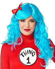 Thing Wig With Bow - Dr. Seuss