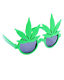 60's Hippie Leaf Glasses