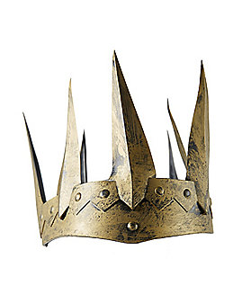 Antique Gold Colored Medieval Crown