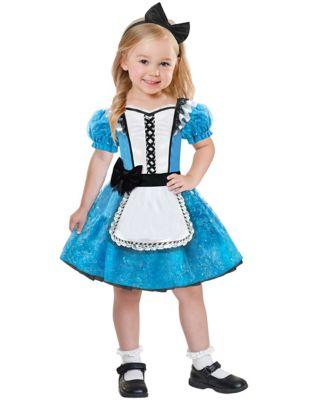 Kids 1950s Clothing & Costumes: Girls, Boys, Toddlers Toddler Alice in Wonderland Costume by Spirit Halloween $29.99 AT vintagedancer.com