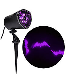 Whirl-A-Motion LED Purple Bats Projection Spotlight