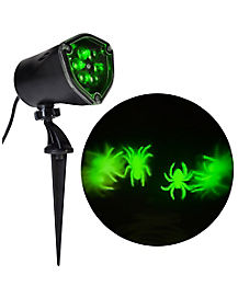 Whirl-A-Motion LED Green Spiders Projection Spot Light