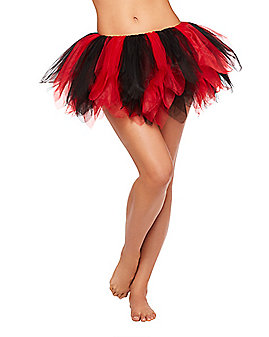 Black and Red Shredded Tutu
