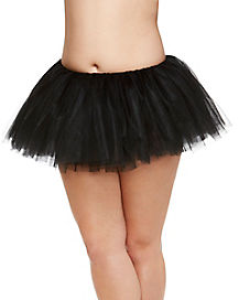 Adult Black Plus Size Tutu