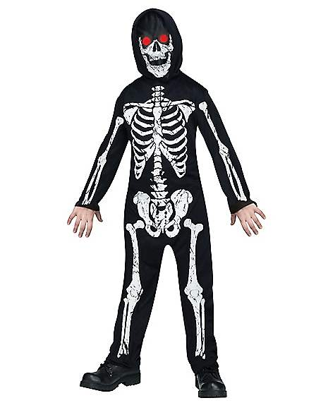 kids skeleton phantom one piece costume. Black Bedroom Furniture Sets. Home Design Ideas