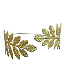 Goldtone Leaf Arm Cuff