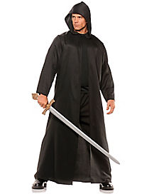 Adult Black Hooded Cloak