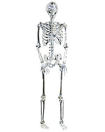 5 Ft Poseable Light Up Chrome Skeleton - Decorations