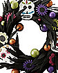 Glitter Sugar Skull Wreath - Decorations