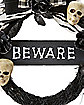 Beware Skull Wreath - Decorations