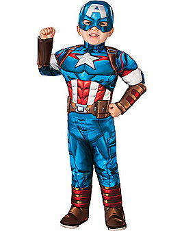 Toddler Captain America One Piece Costume - Marvel