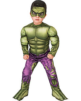 Toddler Hulk Muscle One Piece Costume - Marvel