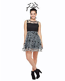 black bat and spider dress