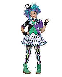 Kids Mad Hatter Dress Costume