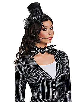 Jack Skellington Mini Top Hat Fascinator - The Nightmare Before Christmas