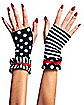 Black and White Mismatched Gloves