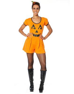 Vintage Retro Halloween Themed Clothing Adult Pumpkin Romper by Spirit Halloween $24.99 AT vintagedancer.com