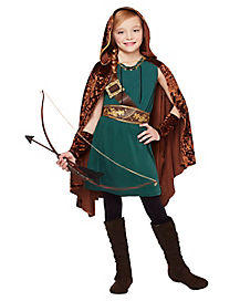 New Adults Women/'s Robin Hood Halloween Hunter Cosplay Costume for Party
