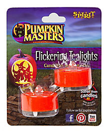 Flickering Pumpkin Tealights