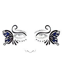 Dark Butterfly Face Decals