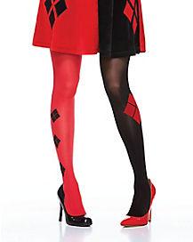 Harley Quinn Faux Thigh Highs - DC Comics