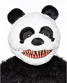 Adult Faux Fur Scary Panda Ani-motion Full Mask