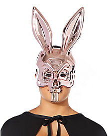 Metallic Pink Bunny Mask