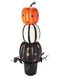 Outdoor halloween decorations yard decorations for 3 tier pumpkin decoration