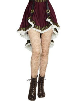 Steampunk Skirts   Bustle Skirts, Lace Skirts, Ruffle Skirts Steampunk Gear Tights by Spirit Halloween $9.99 AT vintagedancer.com
