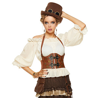 Steampunk Corsets and Belts Steampunk Waist Cincher $16.99 AT vintagedancer.com
