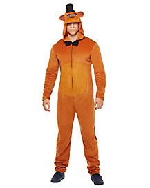 Adult Freddy Pajama Costume - Five Nights at Freddy's