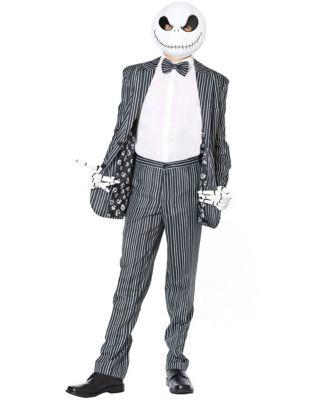 Men's 1900s Costumes: Indiana Jones, WW1 Pilot, Safari Costumes Jack Skellington Costume Suit - The Nightmare Before Christmas by Spirit Halloween $69.99 AT vintagedancer.com