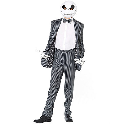 Vintage Men's Costumes – 1920s, 1930s, 1940s, 1950s, 1960s Jack Skellington Suit - The Nightmare Before Christmas $69.99 AT vintagedancer.com