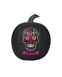 Sugar Skull Paint and Jewel Pumpkin Kit