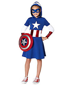 Kids Captain America Dress - Marvel