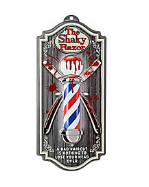The Shaky Razor Barber Sign - Decorations