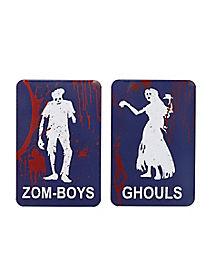 Zombie Bathroom Signs zombie decorations | zombie babies - spirithalloween