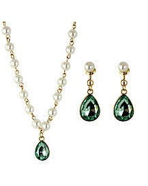 Shimmer Necklace and Earring Set