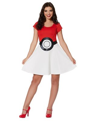 1950s Costumes- Poodle Skirts, Grease, Monroe, Pin Up, I Love Lucy Pokeball Dress - Pokemon by Spirit Halloween $34.99 AT vintagedancer.com