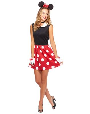 1950s Costumes- Poodle Skirts, Grease, Monroe, Pin Up, I Love Lucy Adult Minnie Mouse Dress Costume - Disney by Spirit Halloween $34.99 AT vintagedancer.com