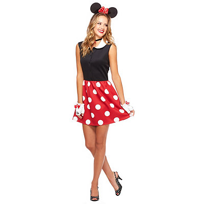 Adult Red Minnie Mouse Plus Size Costume - Disney ...